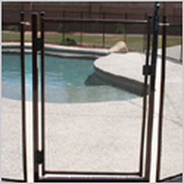 Pool Safety fence gate in Black Sarasota